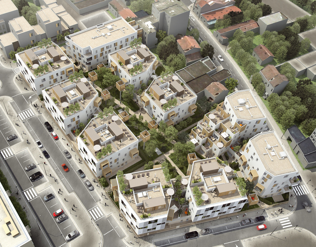 Construction de logements collectifs et sociaux à Romainville (91)
