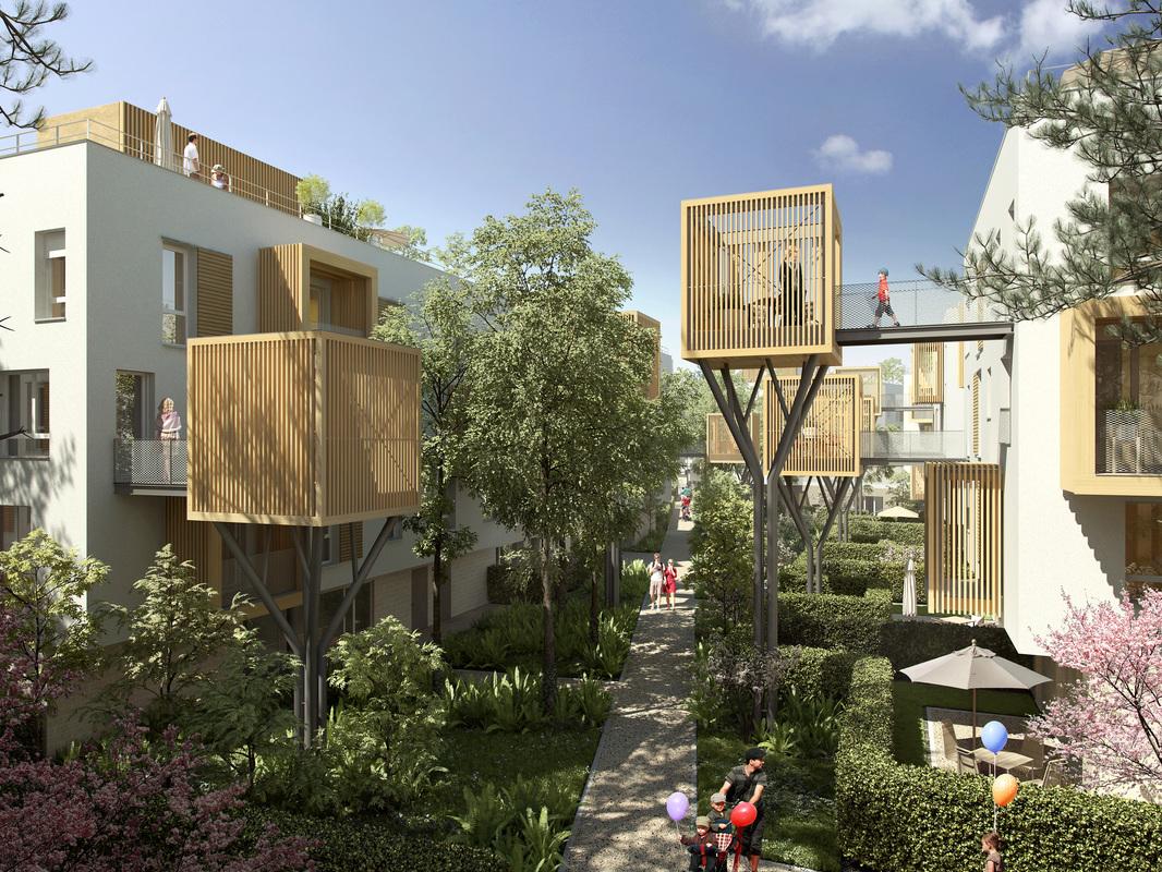 Construction de logements collectifs et sociaux à Romainville (91